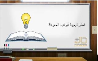 بوربوينت استراتيجية ابواب المعرفة -علياء الشامسي